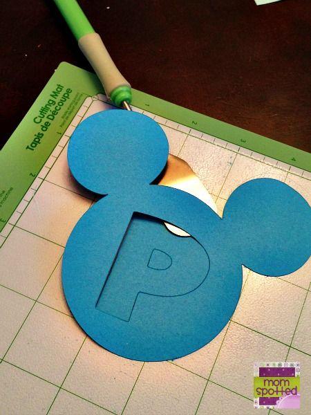 Disney's Mickey Mouse Birthday Name Banner {Cricut Craft Tutorial}