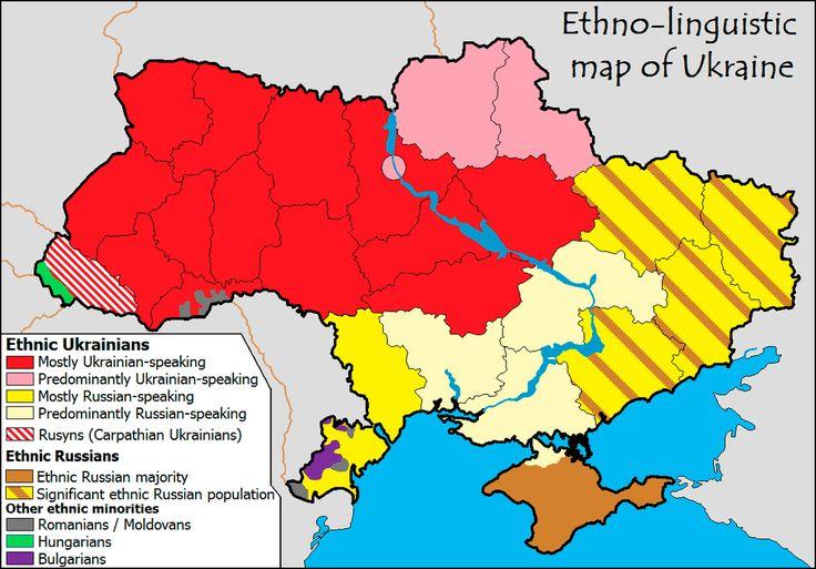 Noticias de Europa: Cinco mapas para entender lo que está ocurriendo en Ucrania. Noticias de Mundo. Las etnias y los idiomas del país exsoviético son algunas de las claves para esclarecer el terremoto político que se sigue viviendo en territorio ucraniano