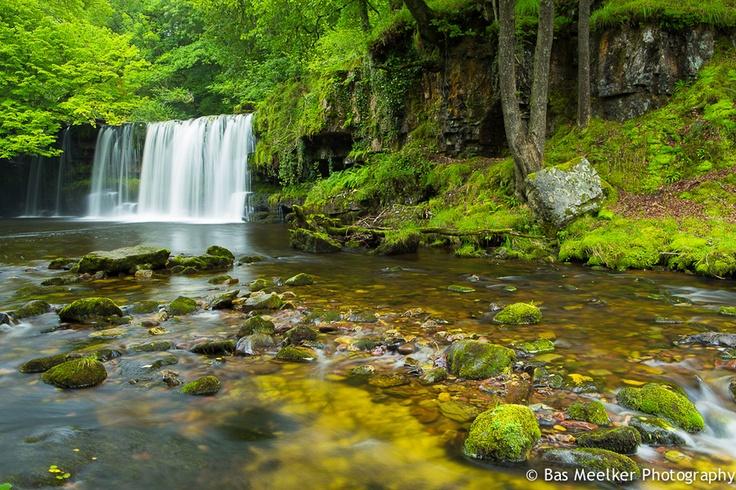 Sgwd Dwilli Uchaf waterfall - Coed y Rhaiadr, Brecon Beacons NP, Wales by Bas Meelker, via 500px