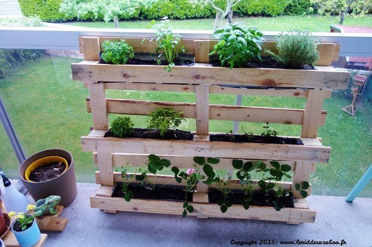 palette potager upcycling diy pinterest herbes. Black Bedroom Furniture Sets. Home Design Ideas