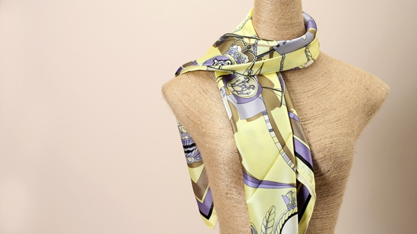 donna summer neck Plain Crepe Satin scarf