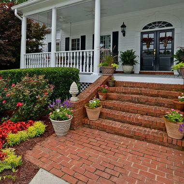 brick steps design garden yard in 2019 brick steps front porch steps brick porch. Black Bedroom Furniture Sets. Home Design Ideas