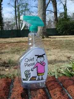 "This Quiet spray is too cute.  It is a completely empty bottle that only makes a quiet ""whisper"" sound.  When students are sprayed, they must then be quiet.#0690"