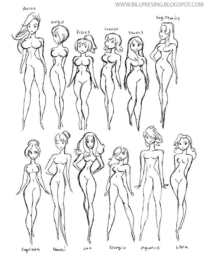 how to draw_aprenda a desenhar_corpos femininos