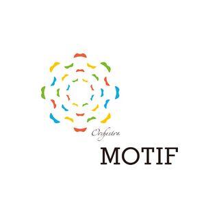 Orchestra MOTIF(オーケストラモチーフ)のロゴ:音の広がりをイメージするマーク | ロゴストック
