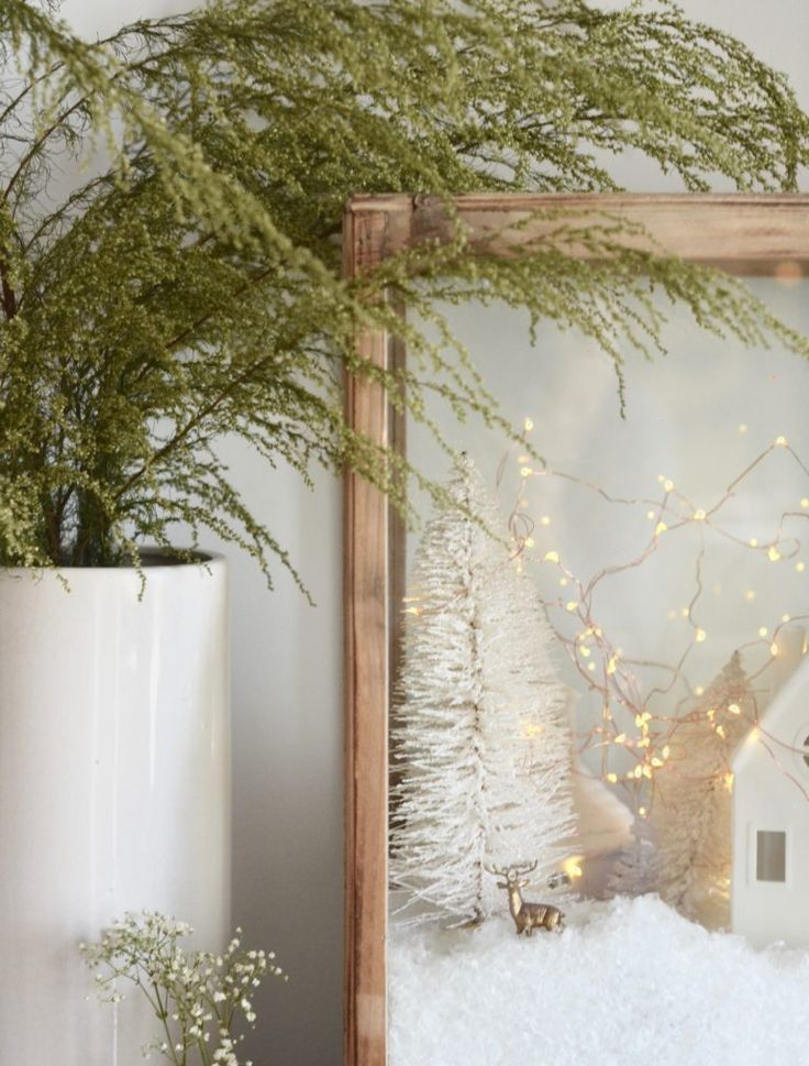 Nesting Place Christmas village for cozy minimalist diy