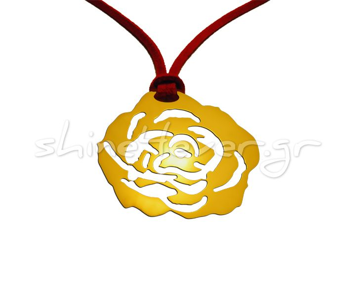 Pendant in the shape of a rose made of gold. By Shine4ever.gr