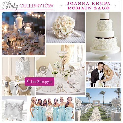 Śluby celebrytów: Joanna Krupa i Romain Zago #slub #wesele #sklepslubny