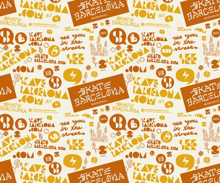 Skate barcelona poster by Juanma Teixidó