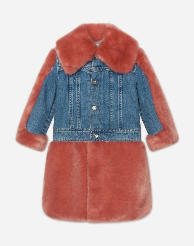 Coat in faux fur and denim   So CharmPosh   Pinterest   Faux fur ... 482909c243