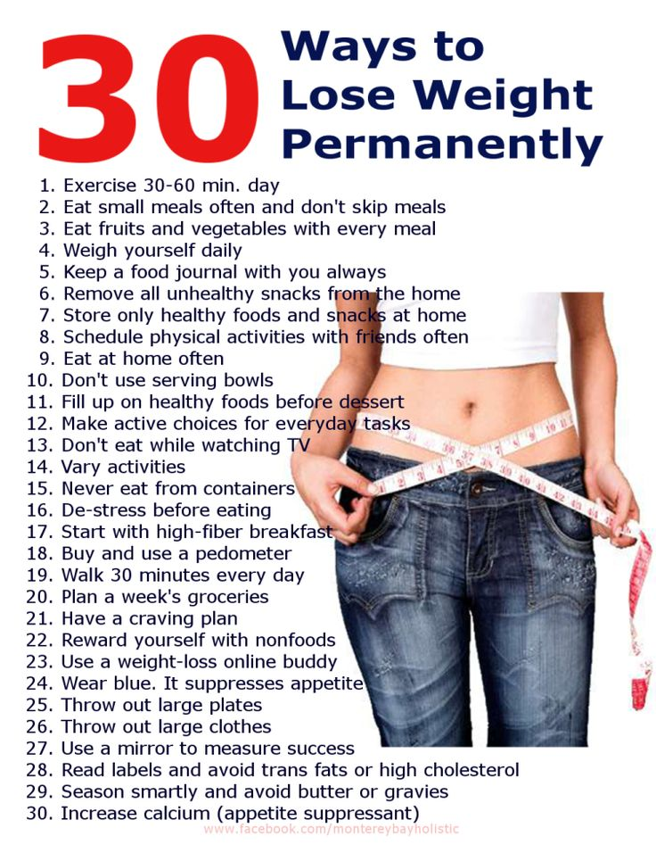 30 Ways to Lose Weight Fast