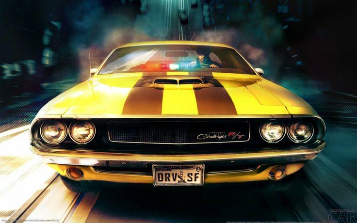 Descargue la imagen a su máquina de escritorio con un potente picadura Dodge Challenger RT (1970).