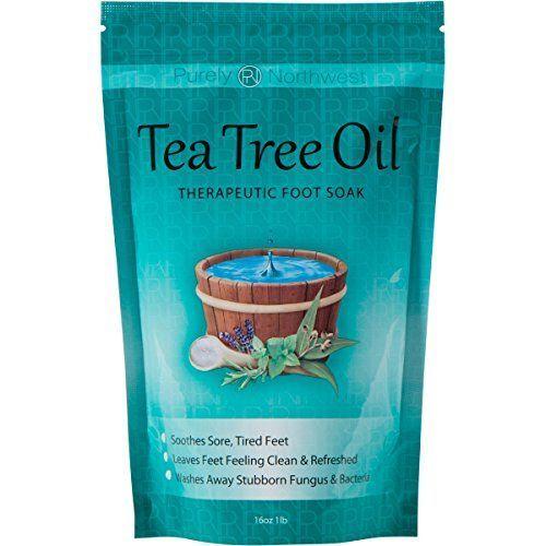 Tea Tree Oil Foot Soak With Epsom Salt, Helps Soak Away T