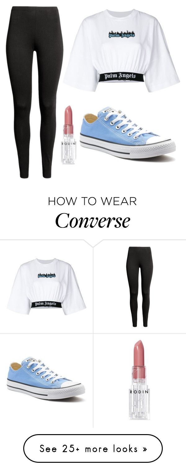 """Untitled #335"" by teya-safi on Polyvore featuring Palm Angels, Converse and Rodin"