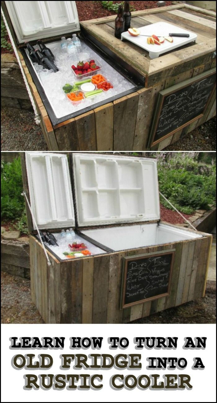 Learn how to turn an old fridge into an awesome rustic cooler with this step-by-step tutorial...