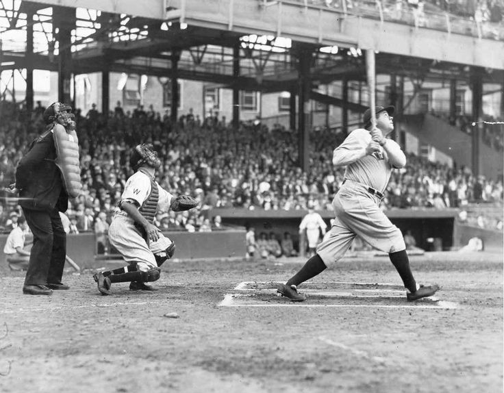 On September 30, 1927, Babe Ruth hits his 60th homerun of the season to break his own major-league record.
