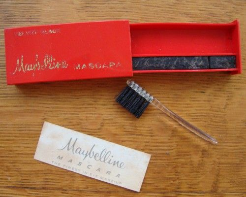 My very first mascara.  It said use water, we all just use to spit and go...lol  Wow, it's come a long way.