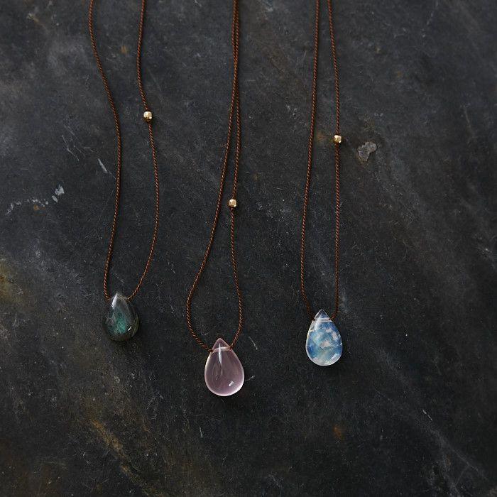 Ono Yasuhide 天然石のシンプルネックレス(3種) - poooL (online shop)