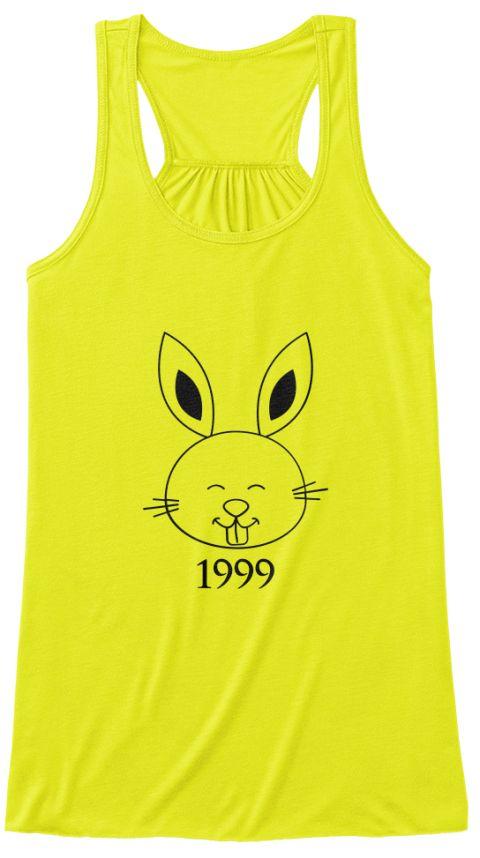 Rabbit-1999  Neon Yellow T-Shirt Front