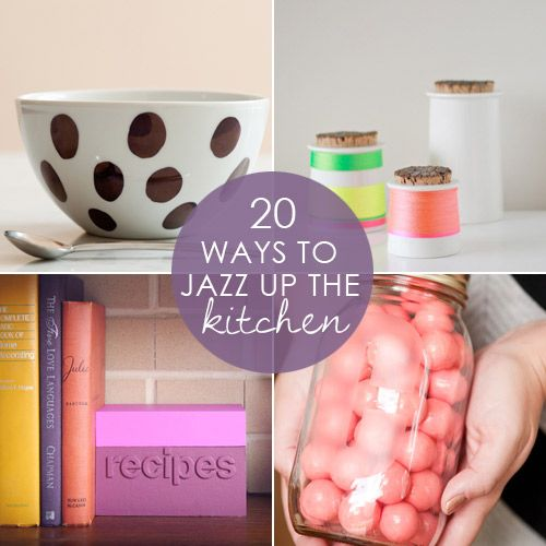 DIY:: 20 Projects to Jazz up the Kitchen!