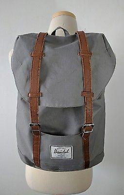 Herschel Supply Co. Little America Backpack Grey Red White Stripe Lining Unisex