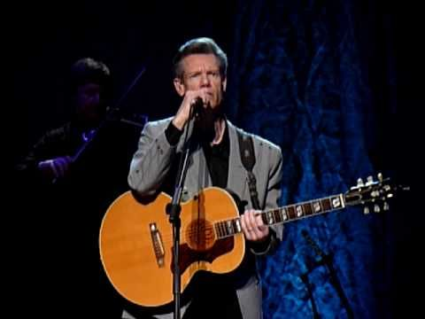 """Randy Travis performing """"I Told You So""""...."""