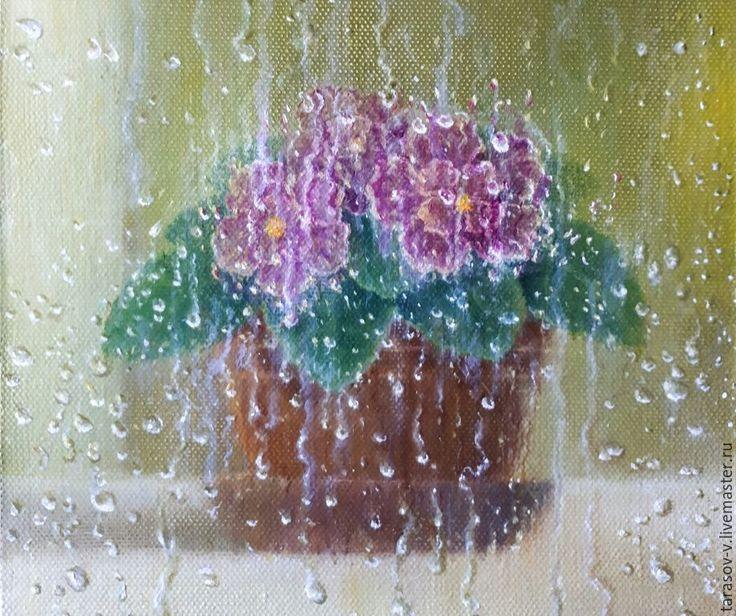 Buy Still life with violets (Vladimir Tarasov) - olive, the color purple, green