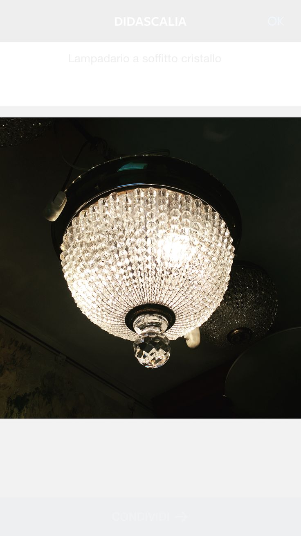 lampadario primi 900 cristallo molato a mano