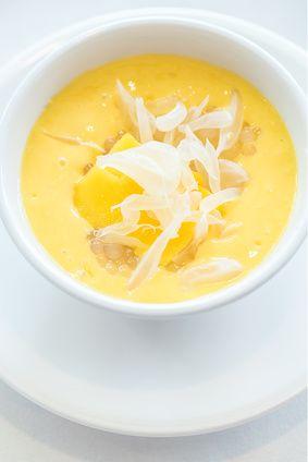Crème dessert express crue et vegan à la mangue