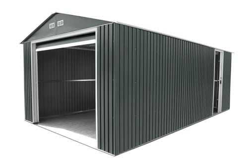 DuraMax 12x20 Gray Metal Storage Garage Building Kit -- Mike could use one of these as a workshop for all of his tools...