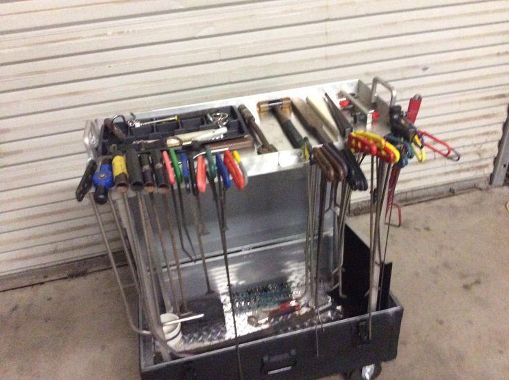 My new tool cart Paintless dent repair Pinterest