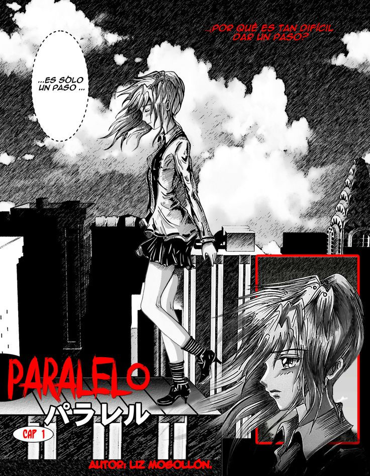 "Manga ""Paralelo"" Capitulo 1 Manga ""Parallel""  Chapter 1 Author: Liz Mogollon Espero quieran descubrir esta historia.. Hope you want to discover this story ^O^ www.lizmogollon.com #anime #manga page #comic page #oc"
