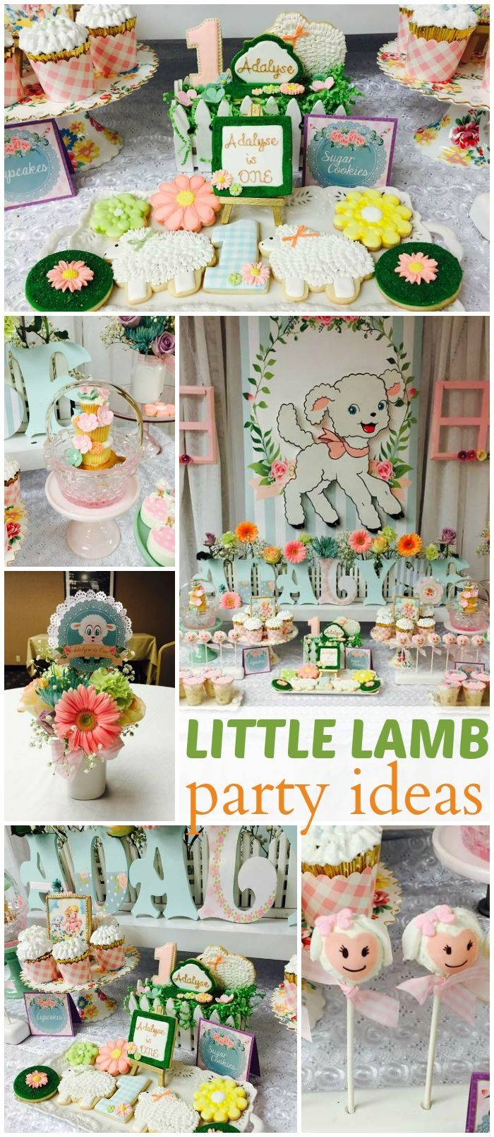 Baby bedding lamb theme sweet pea lamb baby bedding and nursery - How Adorable Is This Mary Had A Little Lamb Party See More Party Ideas