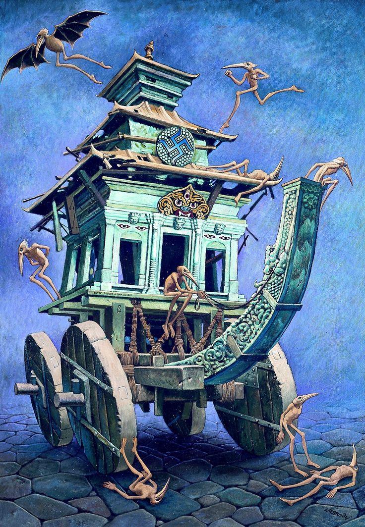 Alcune opere pittoriche del grande maestro visionario torinese, Lorenzo Alessandri in mostra a Palazzo Lascaris.