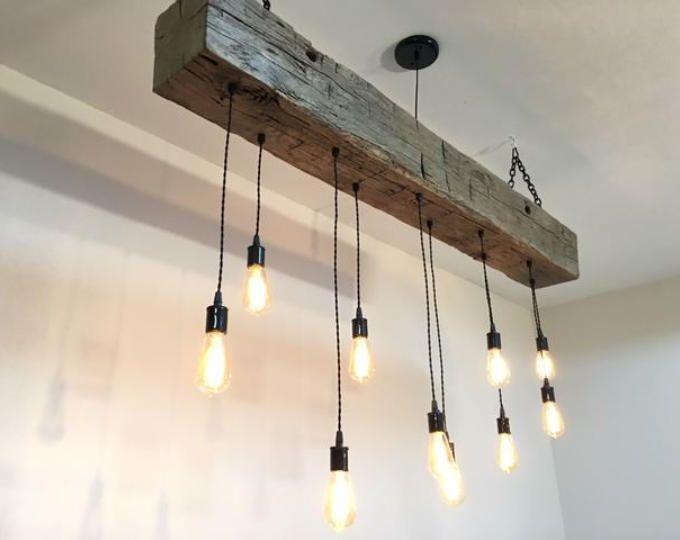 60 Quot R 233 G 233 N 233 R 233 E Grange Faisceau Luminaire Avec 12 Led Edison