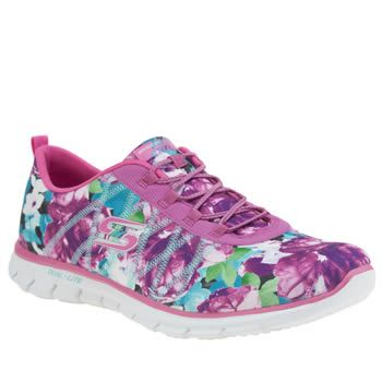 Skechers Pink Glider Posies Womens Trainers Add some flower power to your casual look this season, with the Glider Posies from Skechers. The pink fabric upper is adorned in a vibrant floral print, with an elasticated tongue and bungee lacing fo http://www.MightGet.com/january-2017-13/skechers-pink-glider-posies-womens-trainers.asp