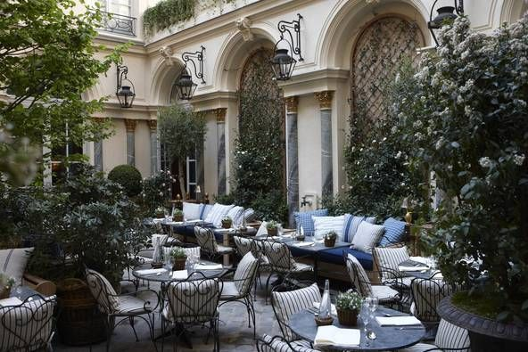 Ralph's Paris courtyard - gorgeous for a quiet champagne after a day's shopping.