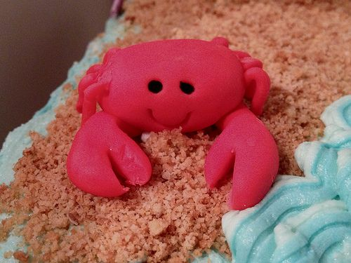 #Cute #Crab #FondantFigure