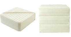 foldable mattress 通気性のよいマットレス・三折タイプ・ダブル 幅140×奥行195×高さ18cm | 無印良品ネットストア