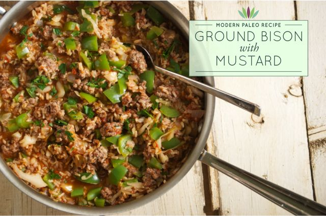 Recipe Ground Bison With Mustard Myersdetox Com Ground Bison Recipes Healthy Ground Bison Bison Recipes