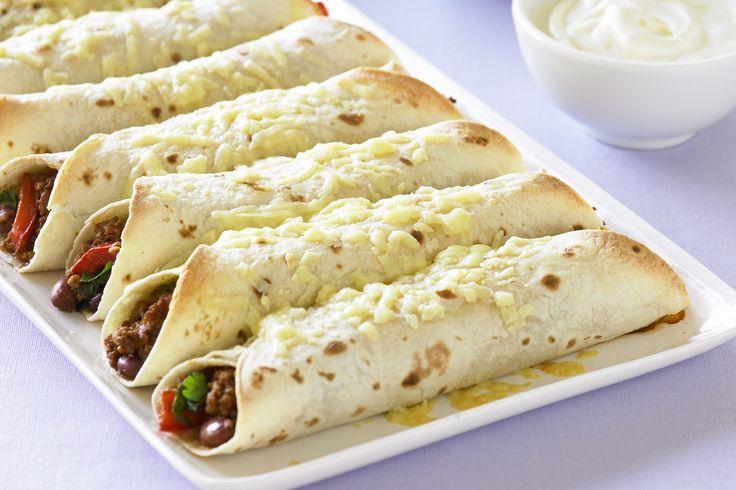 Beef And Bean Burritos Recipe - Taste.com.au