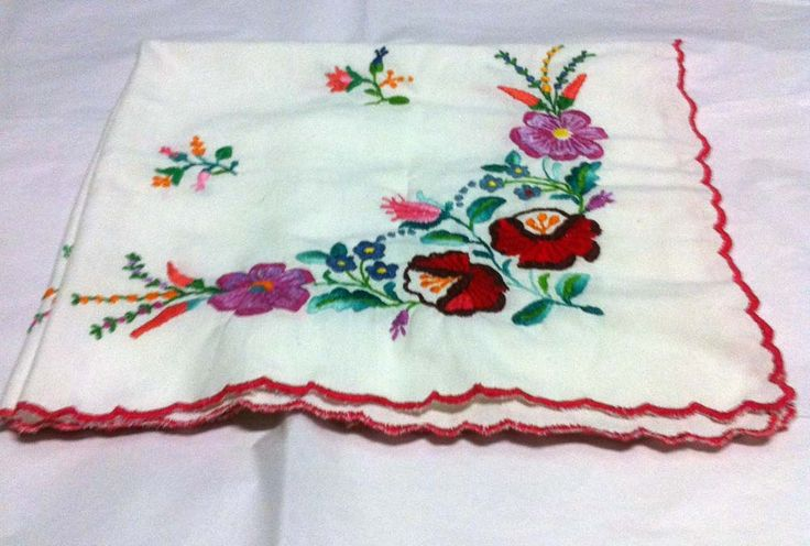 Small embroidered tablecloth