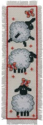 click here to view larger image of Sheep Bookmark (counted cross stitch kit)