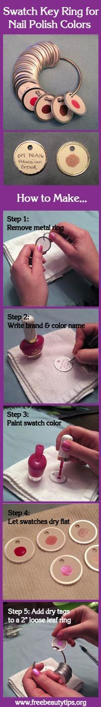 Great way to keep track of a large nail polish collection and stop buying repeat colors.