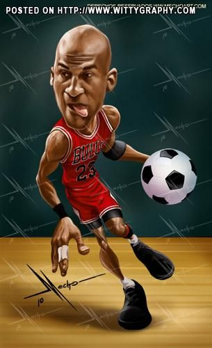 Michael Jordan #Caricature #FunnyFaces