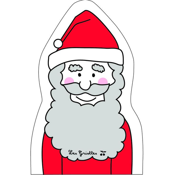 Petit papa Noël ! Marionnette fabriquée en France par Les Griottes.