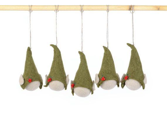 Weihnachtsschmuck  gefilzte Elfen an einen von BlanCraft auf Etsy