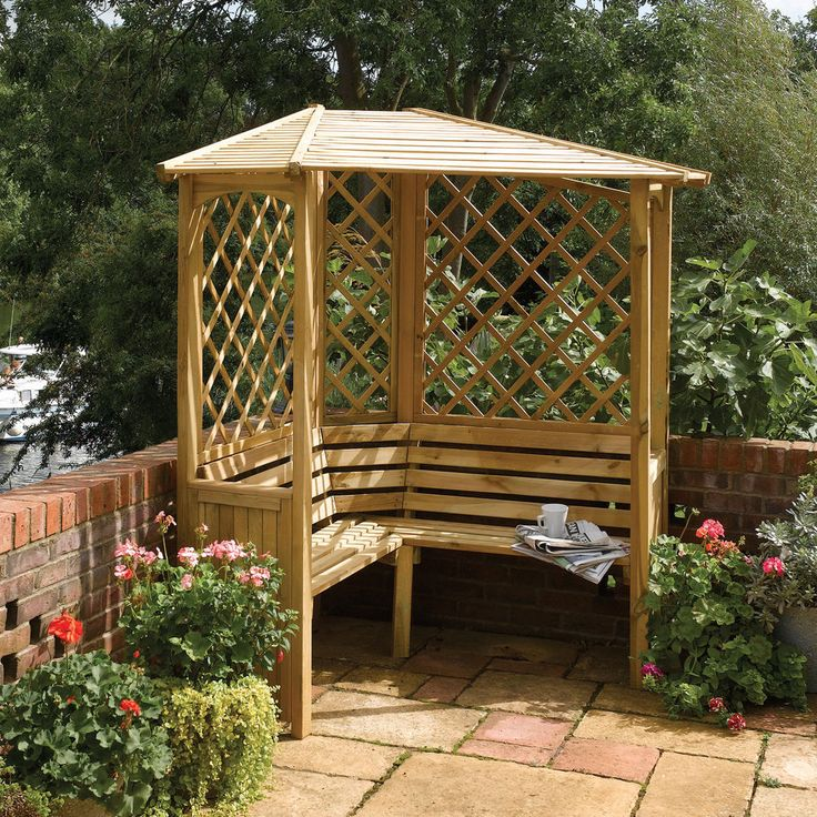 Balmoral Timber Wooden Corner Arbour Garden Piece RRP: £638.40