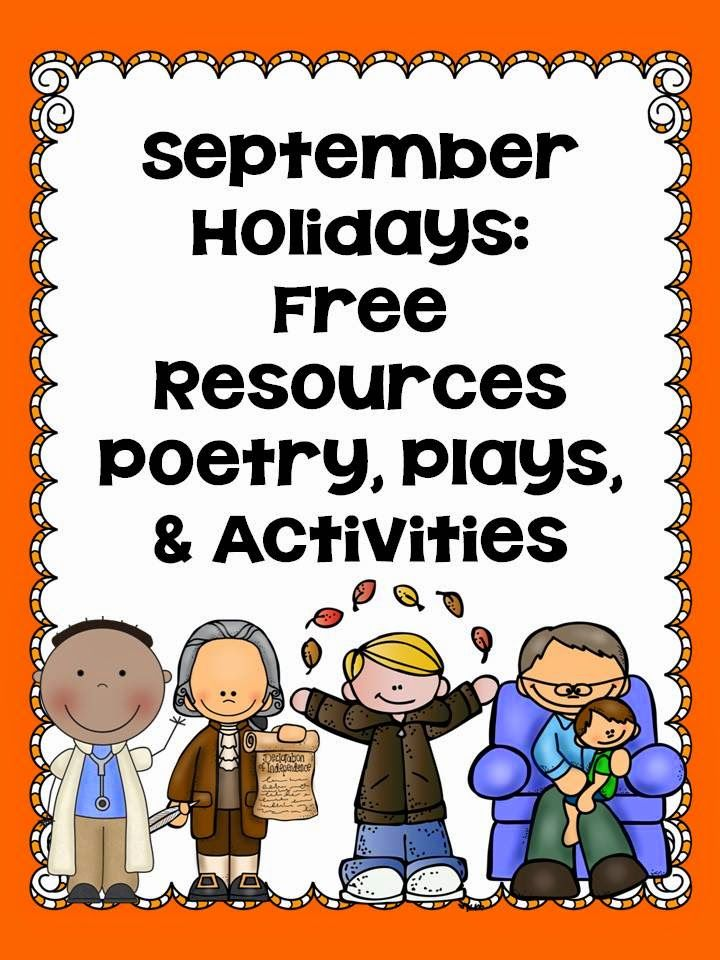 LMN Tree: September Holidays: Free Resources, Poems, Plays, and Activities