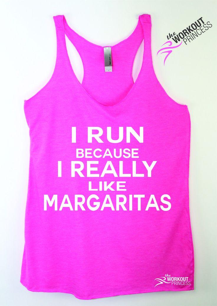 I Run Because I Really Like Margaritas Tank Top